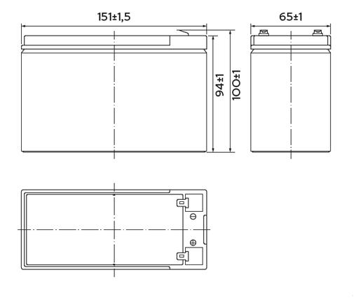 HRL 12-34W (9 Ач)